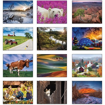 Old Farmers Almanac Country 2021 Calendar Monthly Scenes