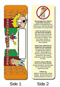 Custom Dealing with Bullies Bookmark