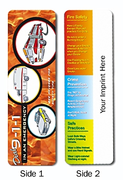 Personalized Emergency Safety Tips Bookmark