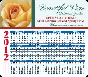 Full Color Calendar Magnet