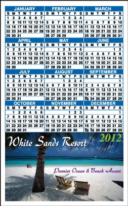 Customized Calendar Magnets