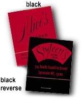 Black Reverse Personalized Matchbooks