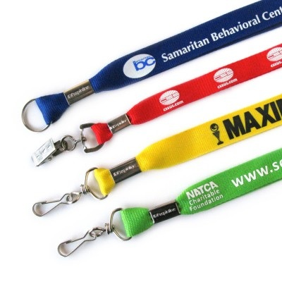 Custom Printed Lanyards with Optional Attachments