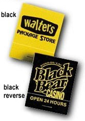 Personalized Yellow Reverse Matchbooks Wholesale Prices