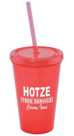 US Made Acrylic Tumbler in Red