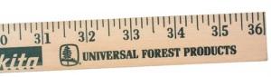 Personalized Natural Finish Yardstick