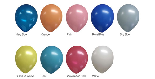 "9"" Balloon Colors"