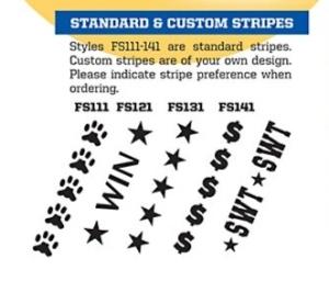 Available Football Stripes